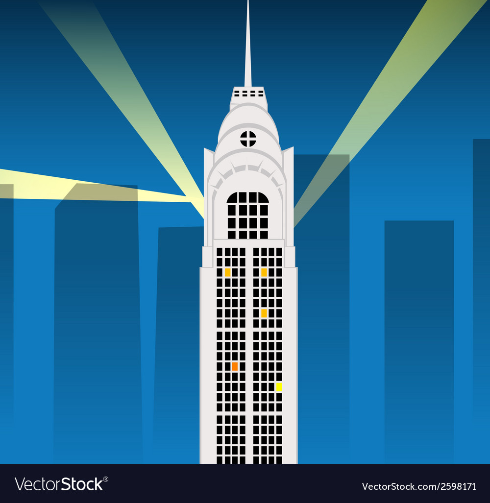Cartoon skyscraper vector | Price: 1 Credit (USD $1)