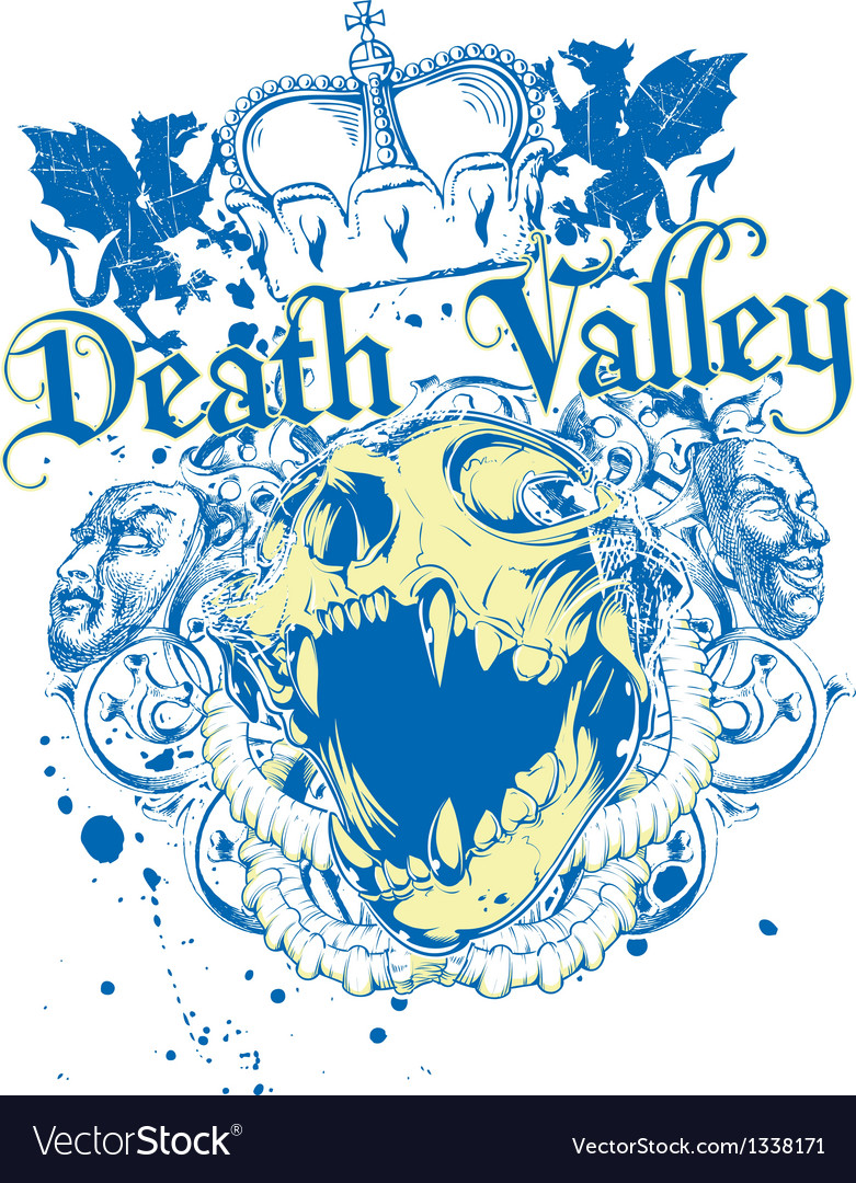 Death valley vector | Price: 3 Credit (USD $3)