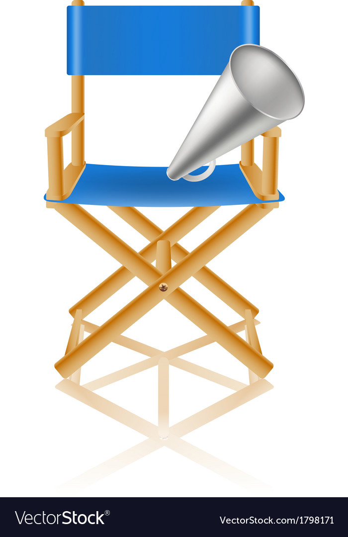 Director chair and loudspeaker vector | Price: 1 Credit (USD $1)
