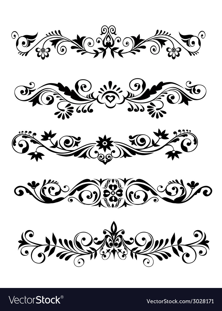 Floral patern borders and frames vector | Price: 1 Credit (USD $1)