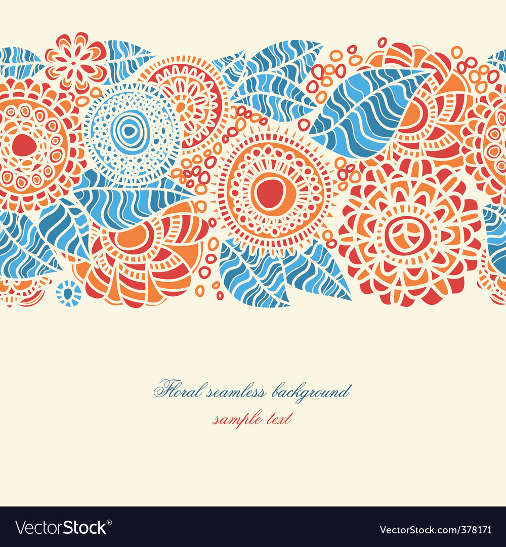 Floral seamless background vector   Price: 1 Credit (USD $1)