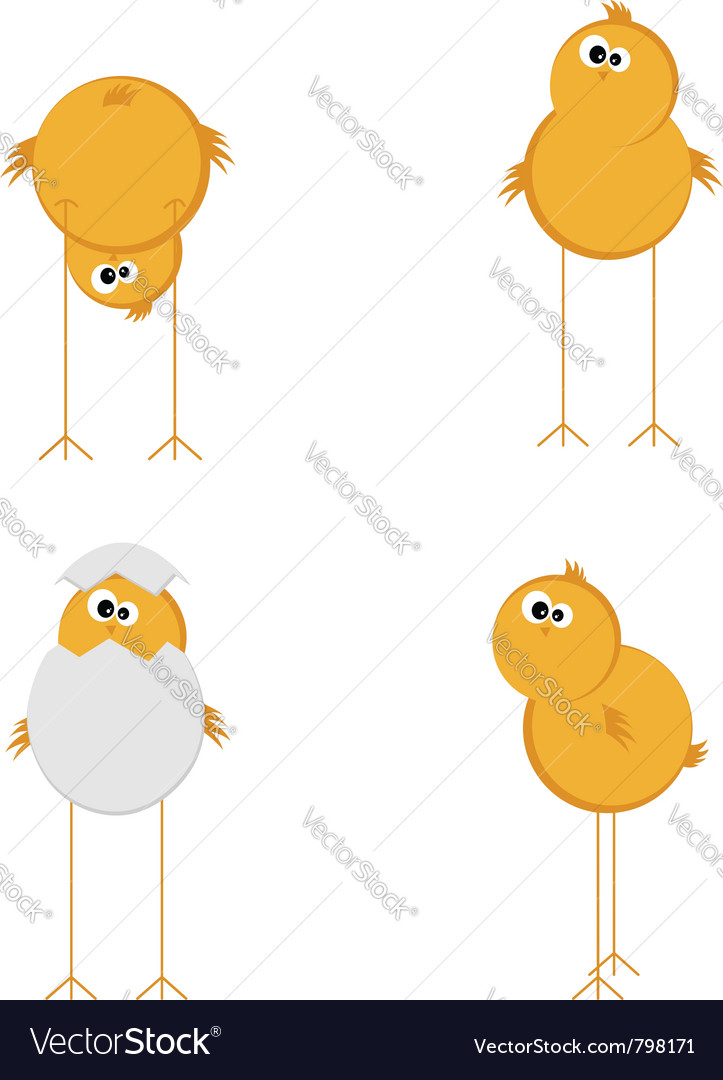 Funny chicken set vector | Price: 1 Credit (USD $1)