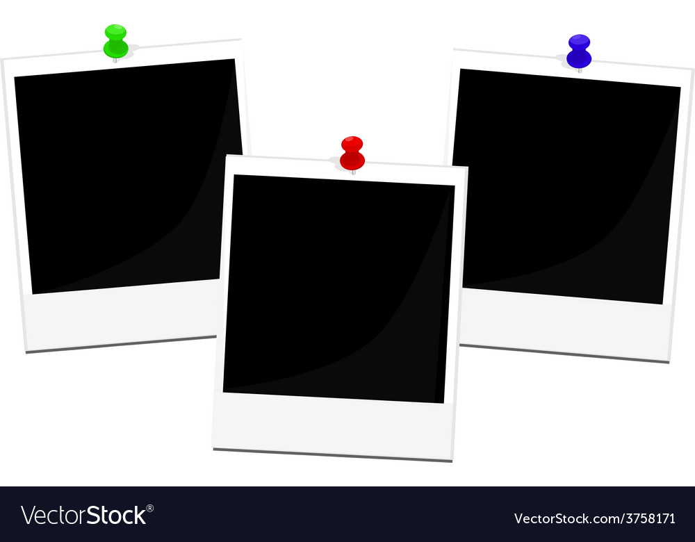 Polaroid frames set vector | Price: 1 Credit (USD $1)
