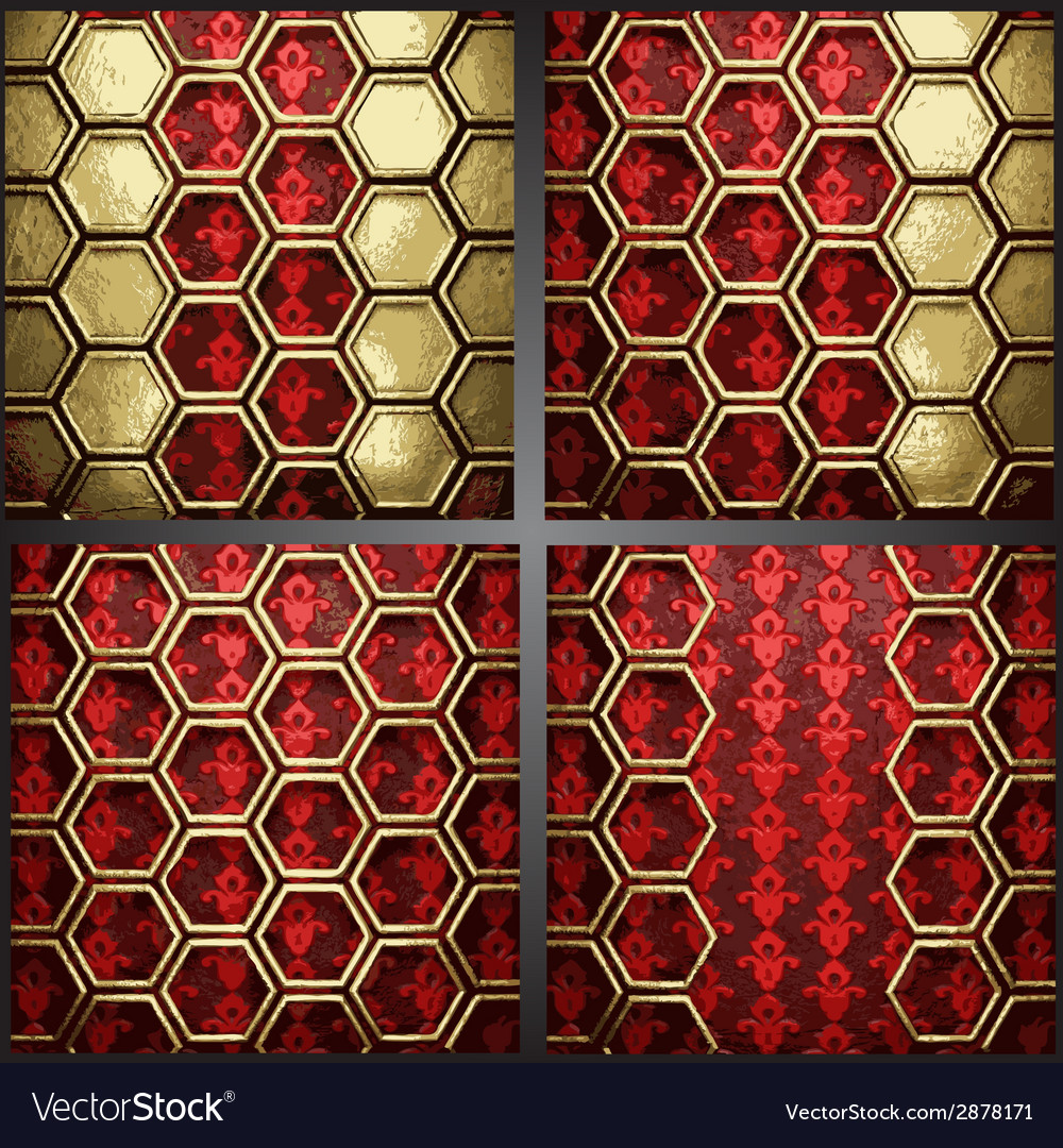 Red background with gold vector | Price: 1 Credit (USD $1)