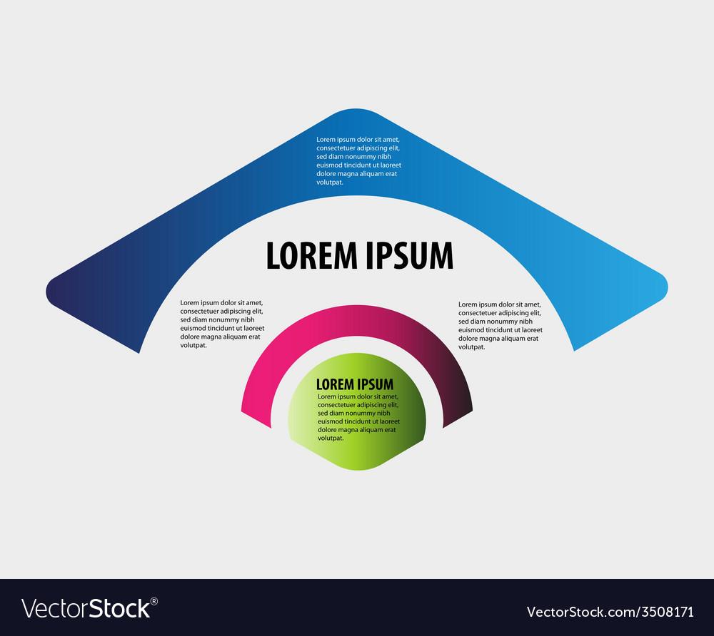 Rhombus infographic vector | Price: 1 Credit (USD $1)