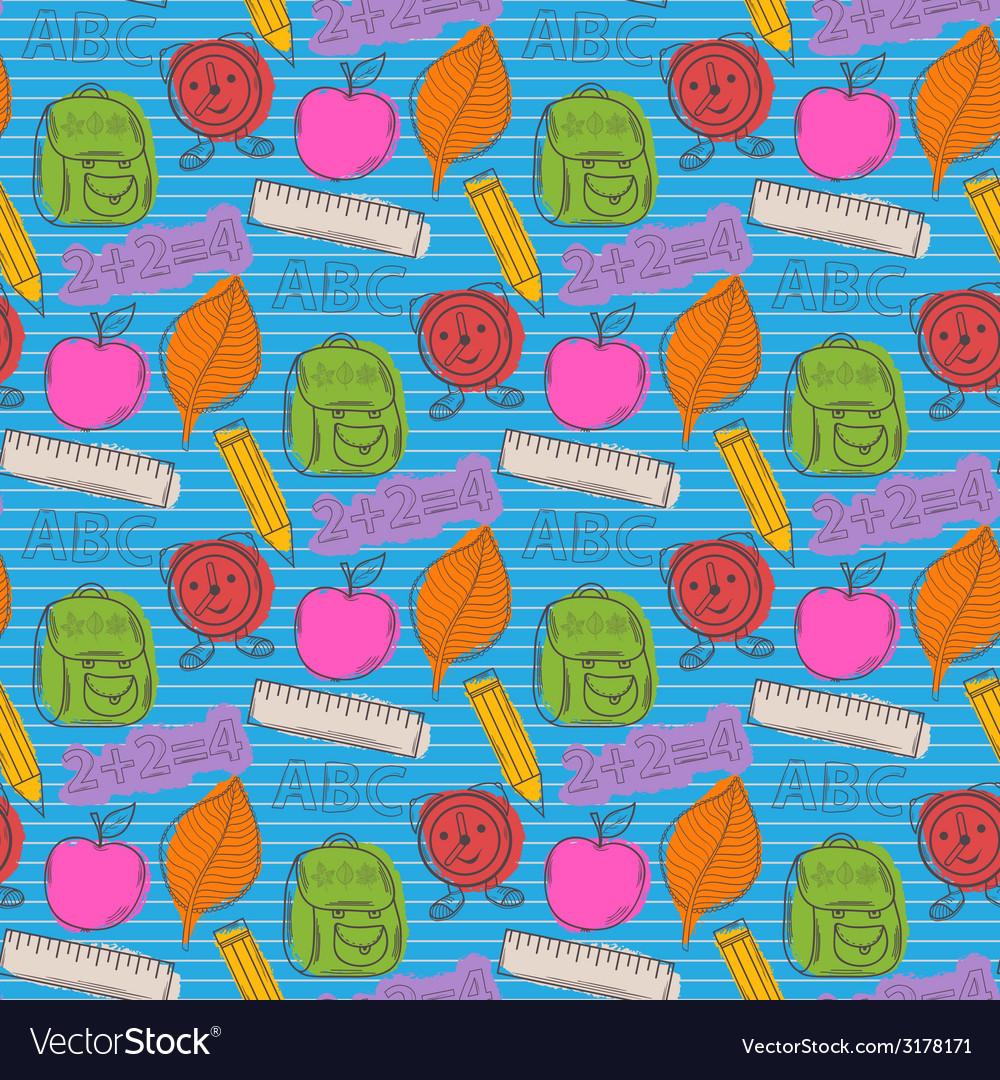 School pattern with color blots vector | Price: 1 Credit (USD $1)