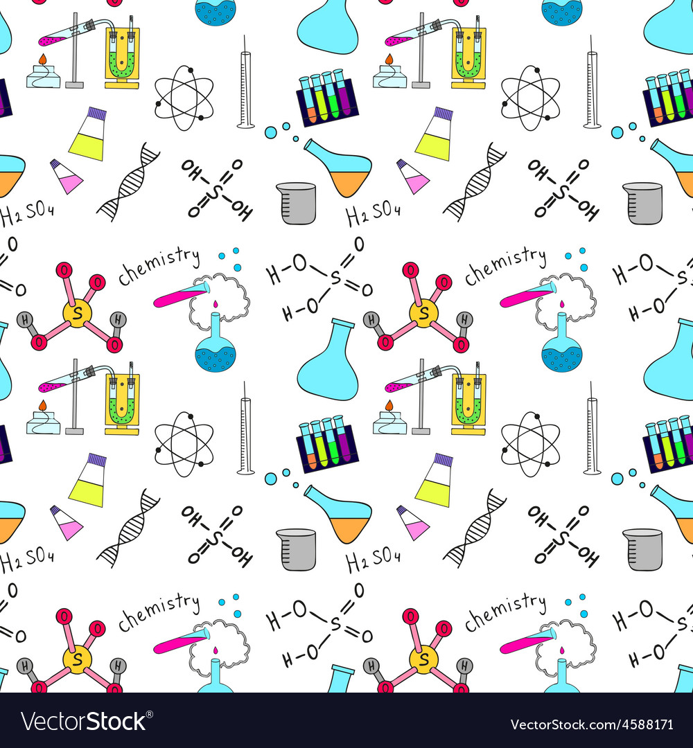 Seamless sketch of science doddle elements vector | Price: 1 Credit (USD $1)