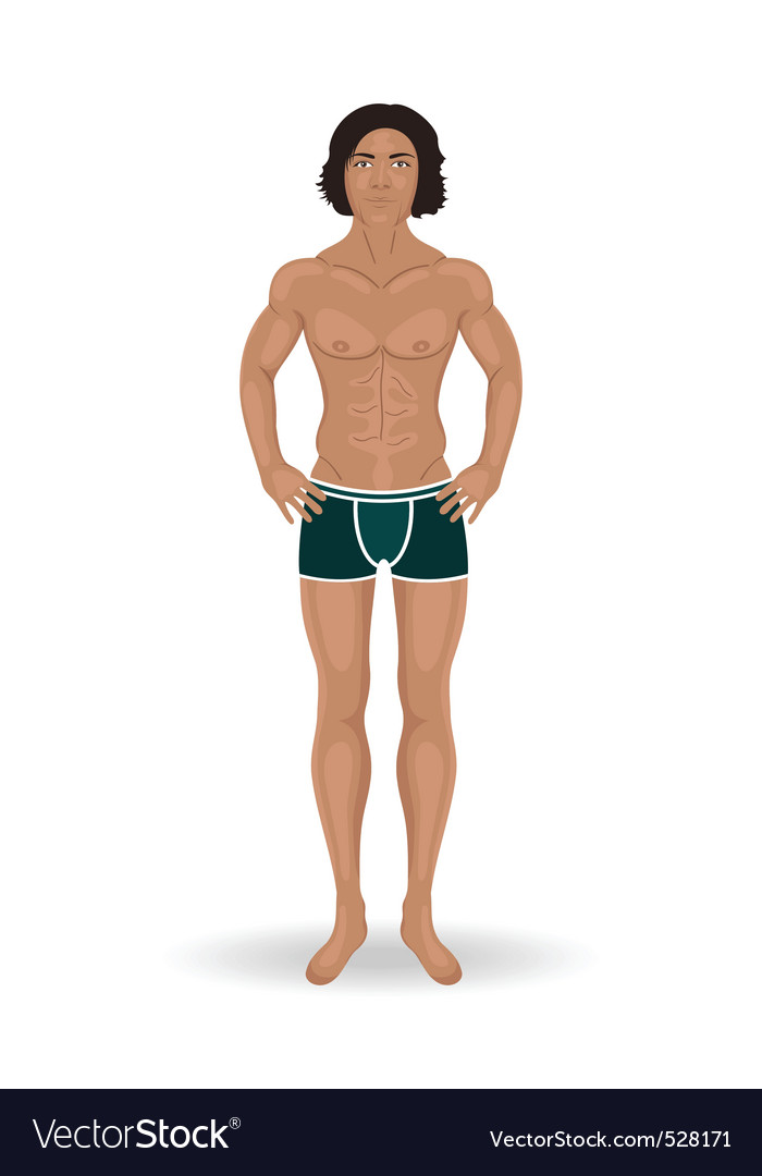 Sexy man isolated vector | Price: 1 Credit (USD $1)