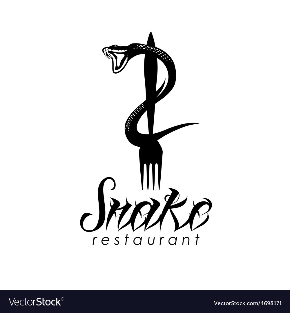 Snake on the fork design template vector | Price: 1 Credit (USD $1)