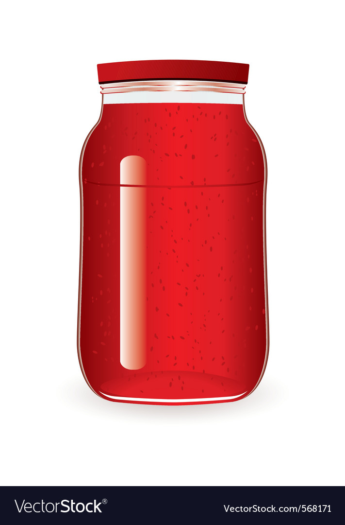Strawberry or raspberry jam vector | Price: 1 Credit (USD $1)