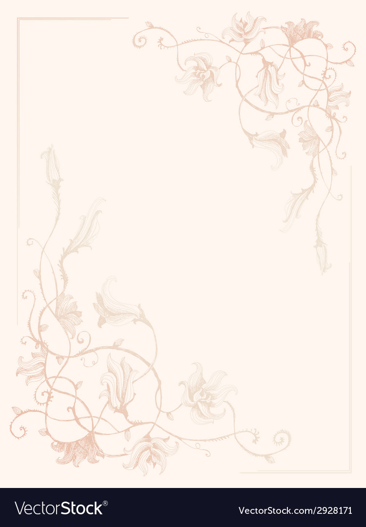 Vintage flower ink pattern vector | Price: 1 Credit (USD $1)