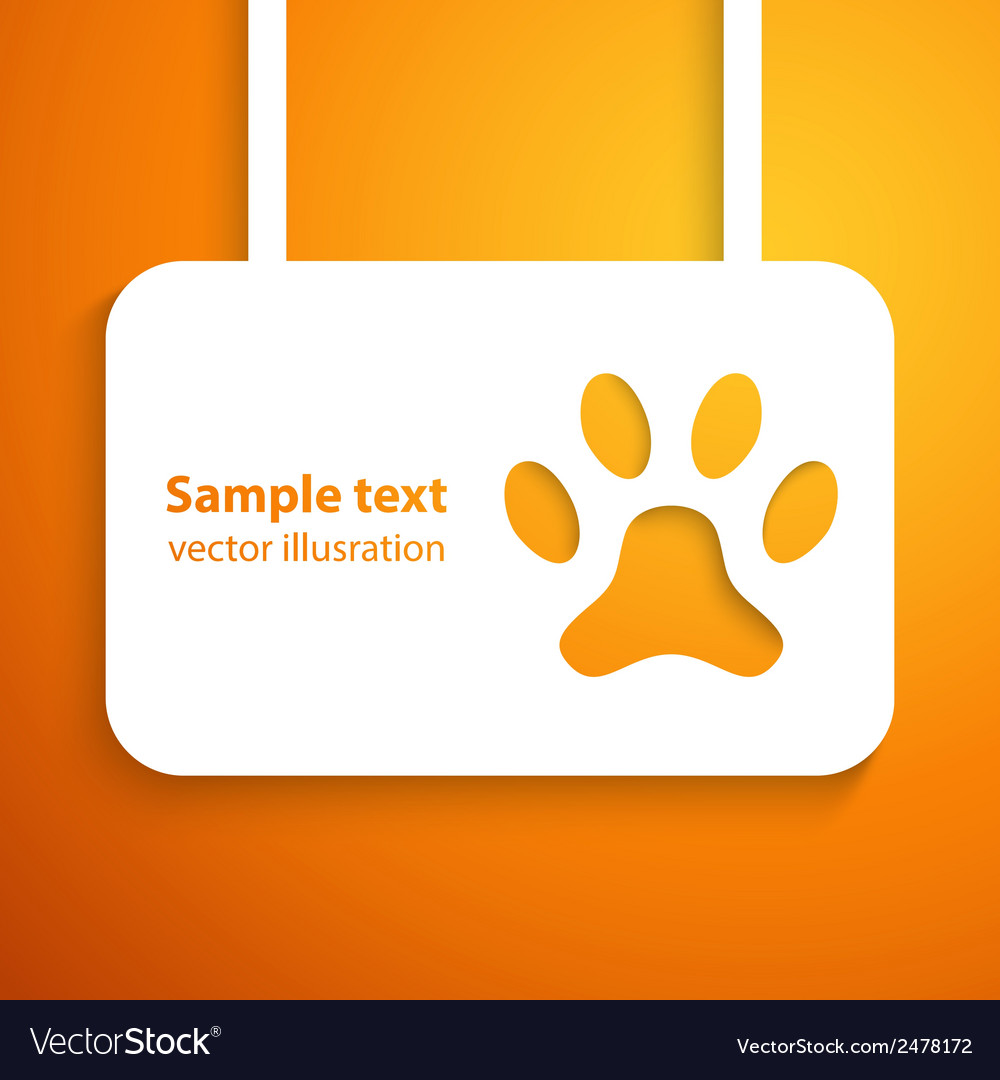 Applique dog track icon frame for happy ani vector | Price: 1 Credit (USD $1)