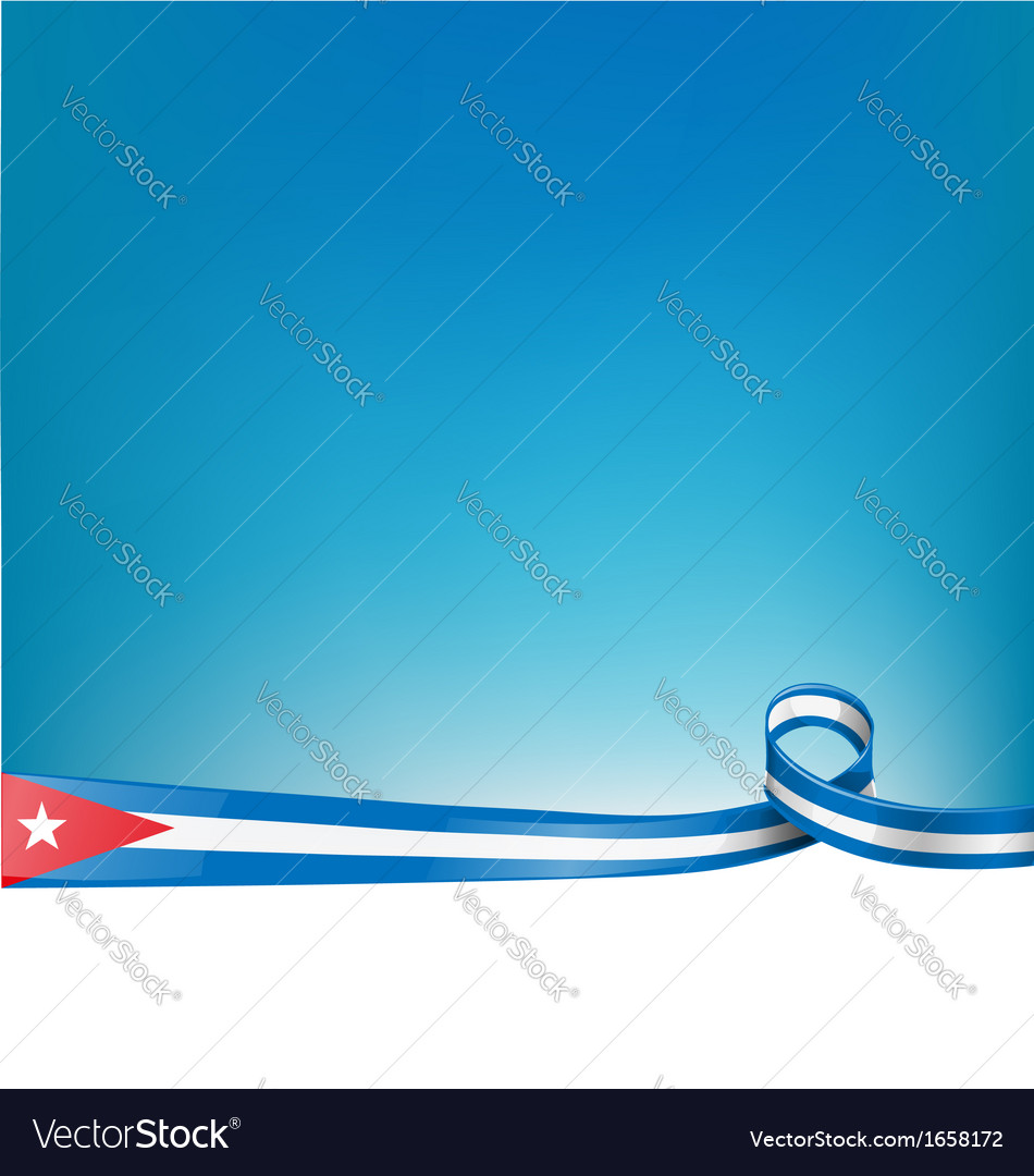 Cuba background flag vector | Price: 1 Credit (USD $1)