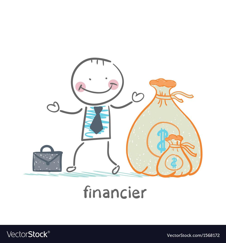 Financier is a bag of money vector | Price: 1 Credit (USD $1)