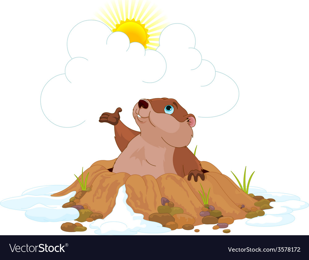 Groundhog vector | Price: 1 Credit (USD $1)