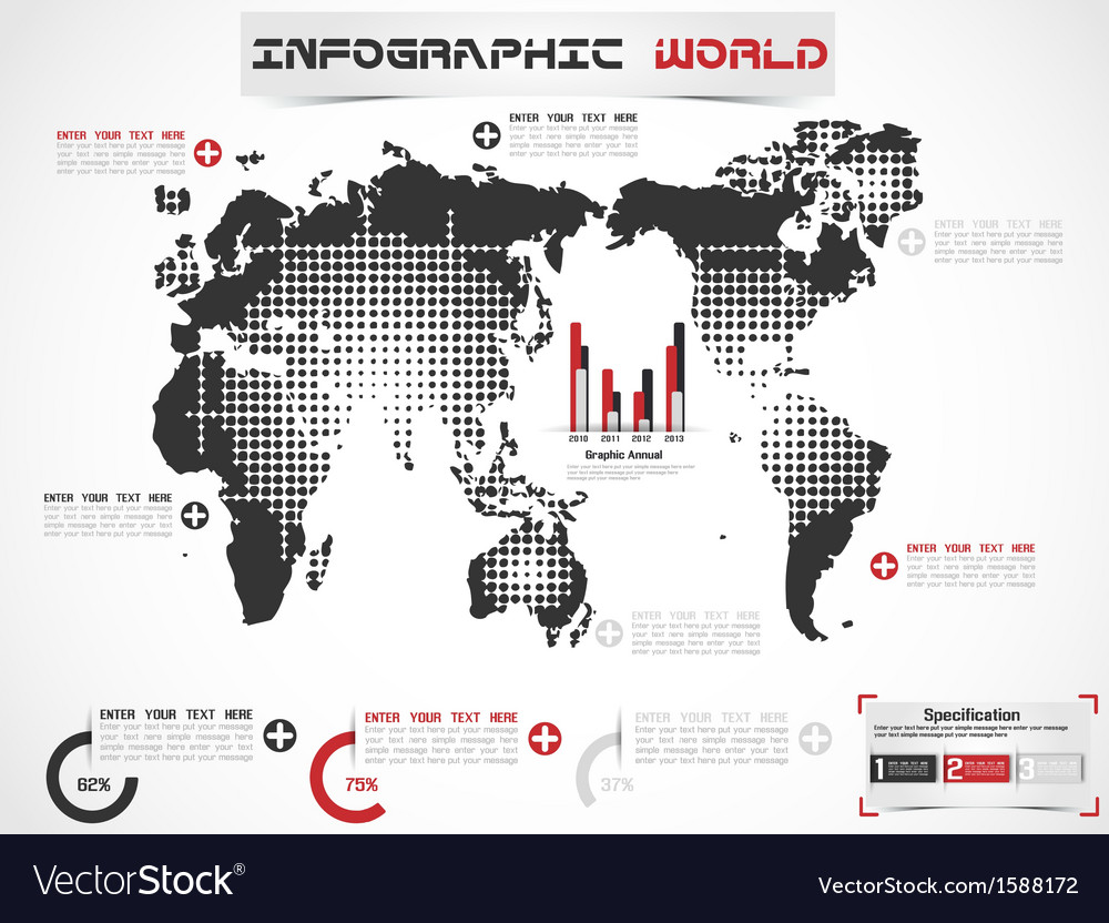Infographic world modern edition vector | Price: 1 Credit (USD $1)