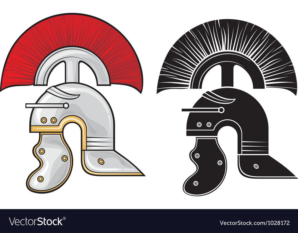 Roman helmet vector | Price: 1 Credit (USD $1)