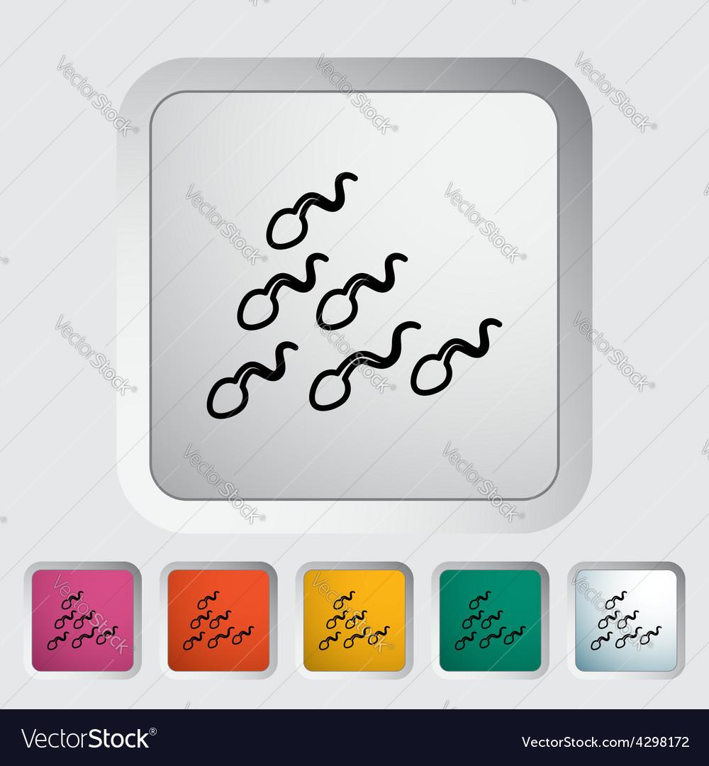 Sperm icon vector | Price: 1 Credit (USD $1)