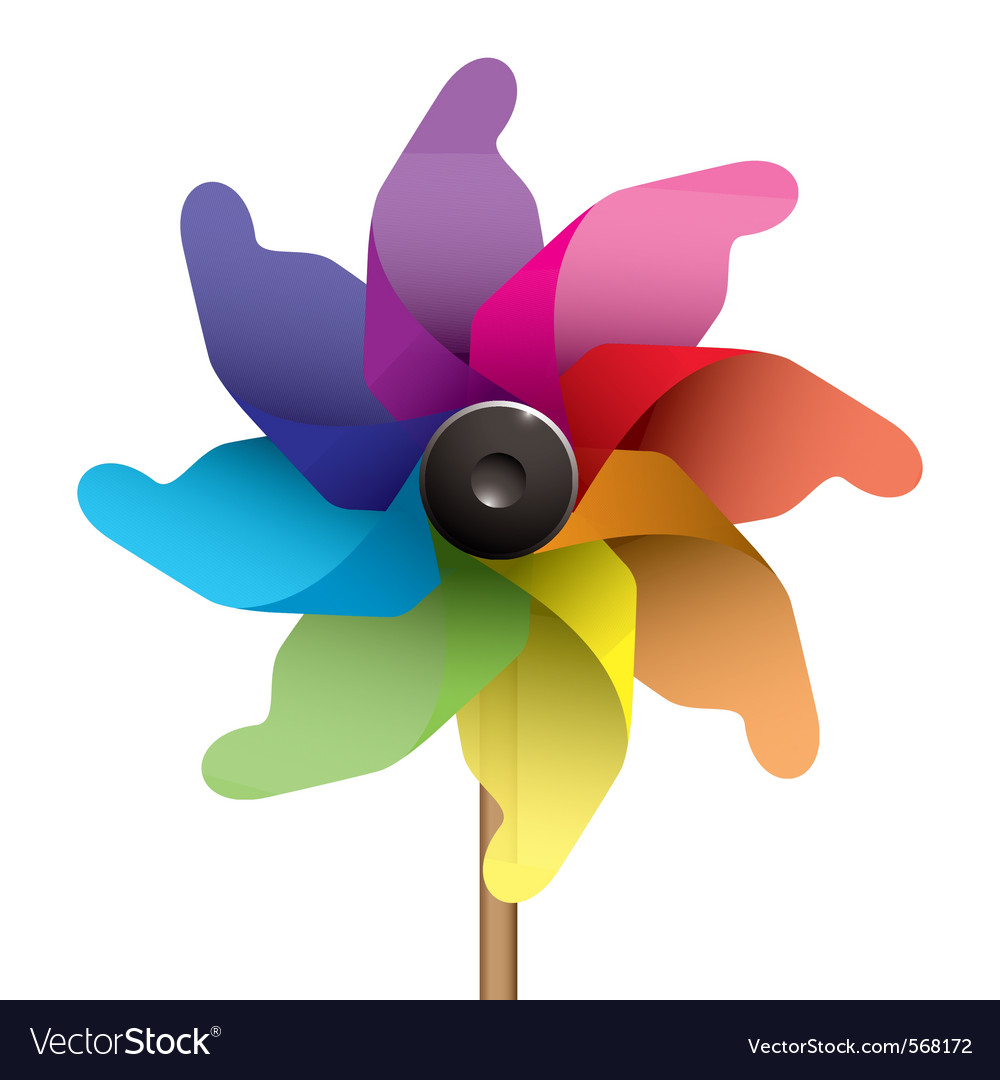 Windmill or pinwheel vector | Price: 1 Credit (USD $1)