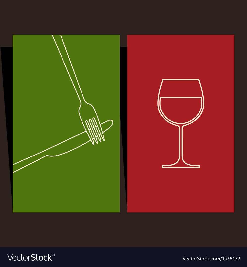 Wine list and menu design vector   Price: 1 Credit (USD $1)