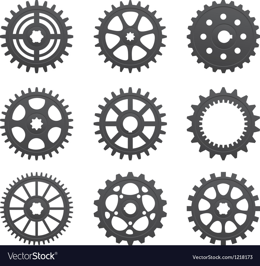 A set of gears and pinions vector | Price: 1 Credit (USD $1)