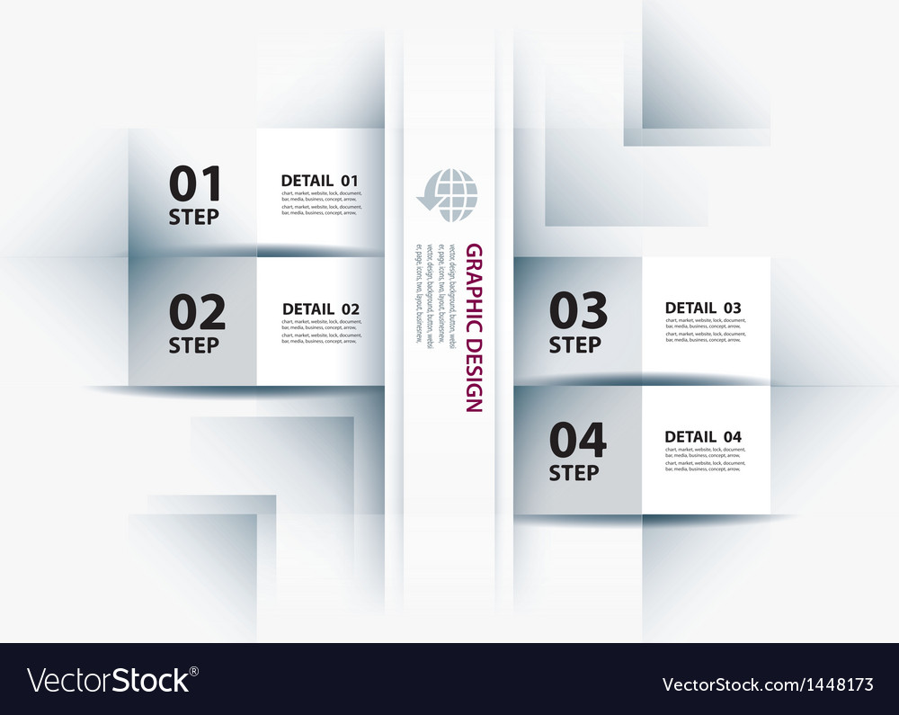 Business step paper lines and numbers vector | Price: 1 Credit (USD $1)