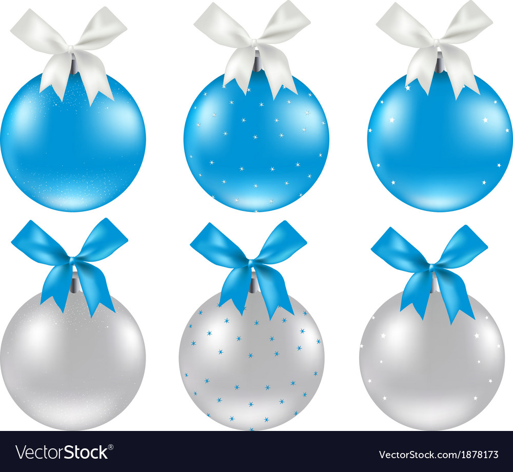 Christmas silver and blue ball vector | Price: 1 Credit (USD $1)