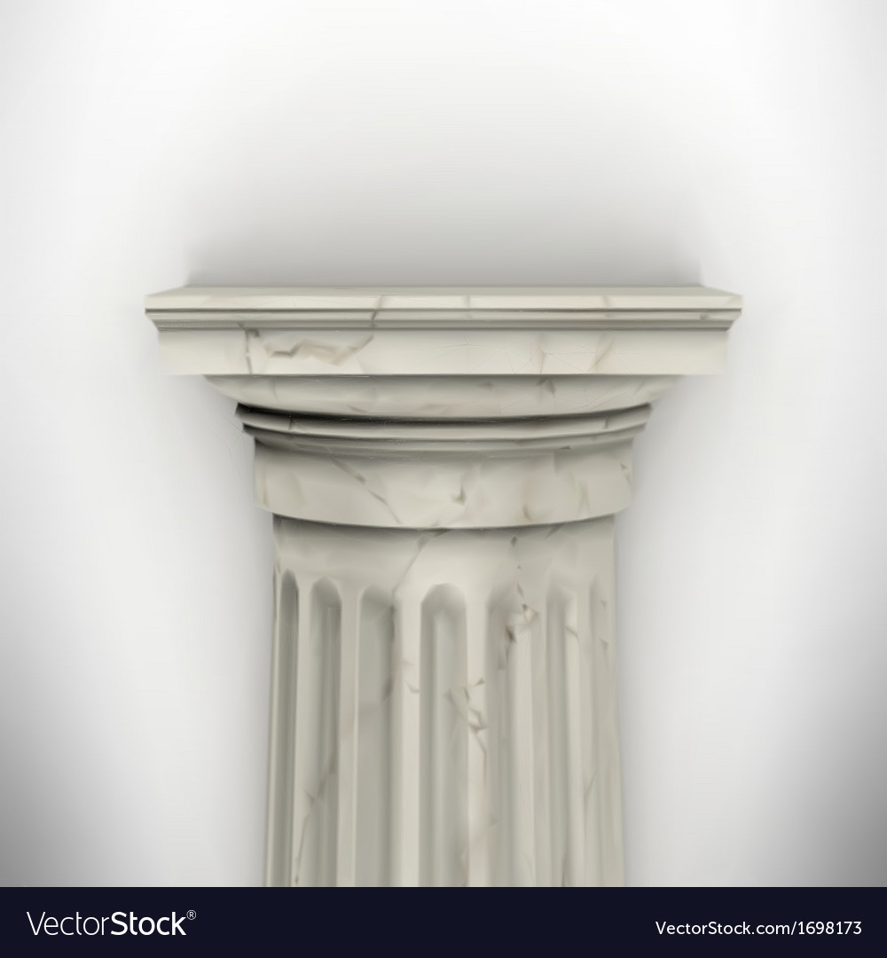 Column isolated on white wall vector | Price: 1 Credit (USD $1)