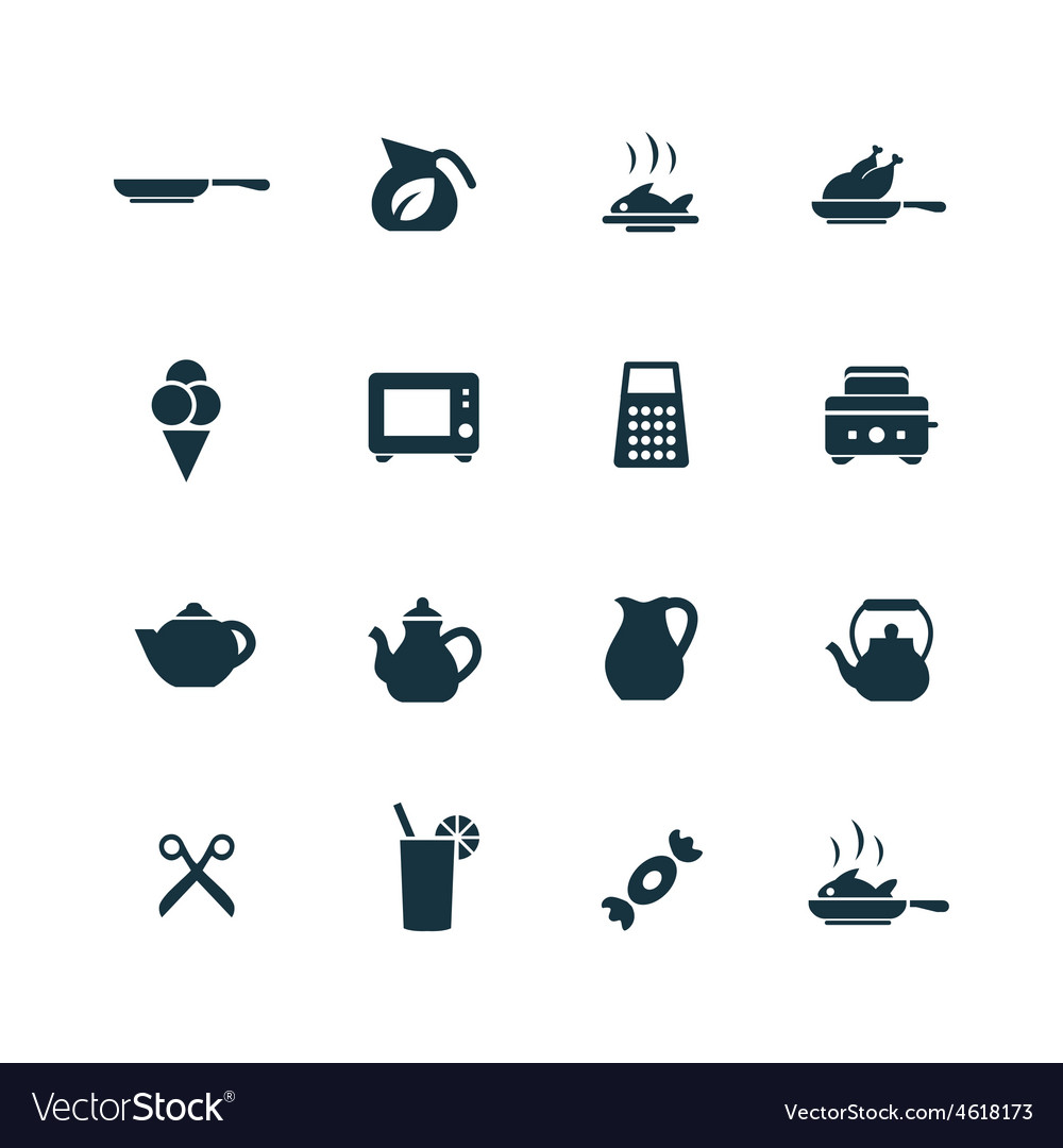 Cooking icons set vector | Price: 1 Credit (USD $1)