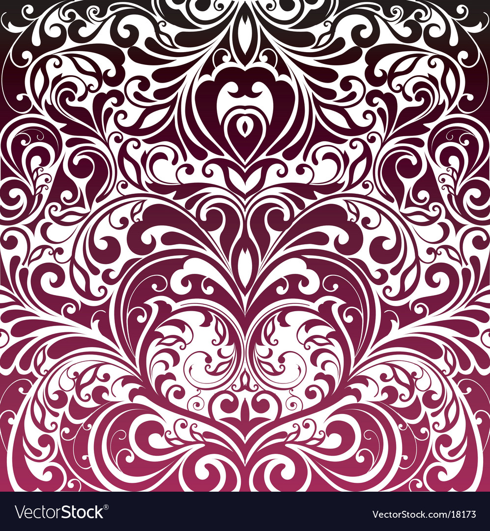 Floral decorative wallpaper vector | Price: 1 Credit (USD $1)