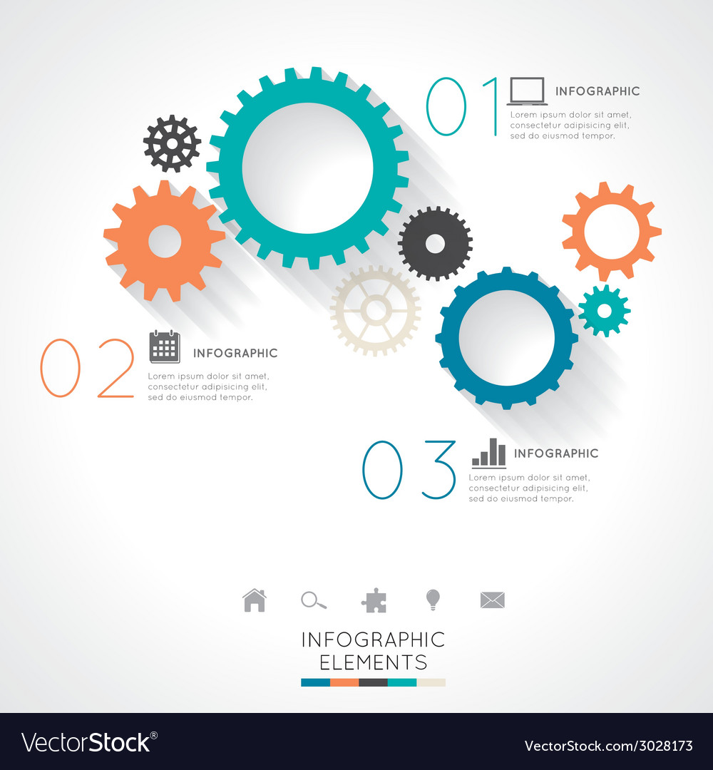 Gear infographics vector | Price: 1 Credit (USD $1)