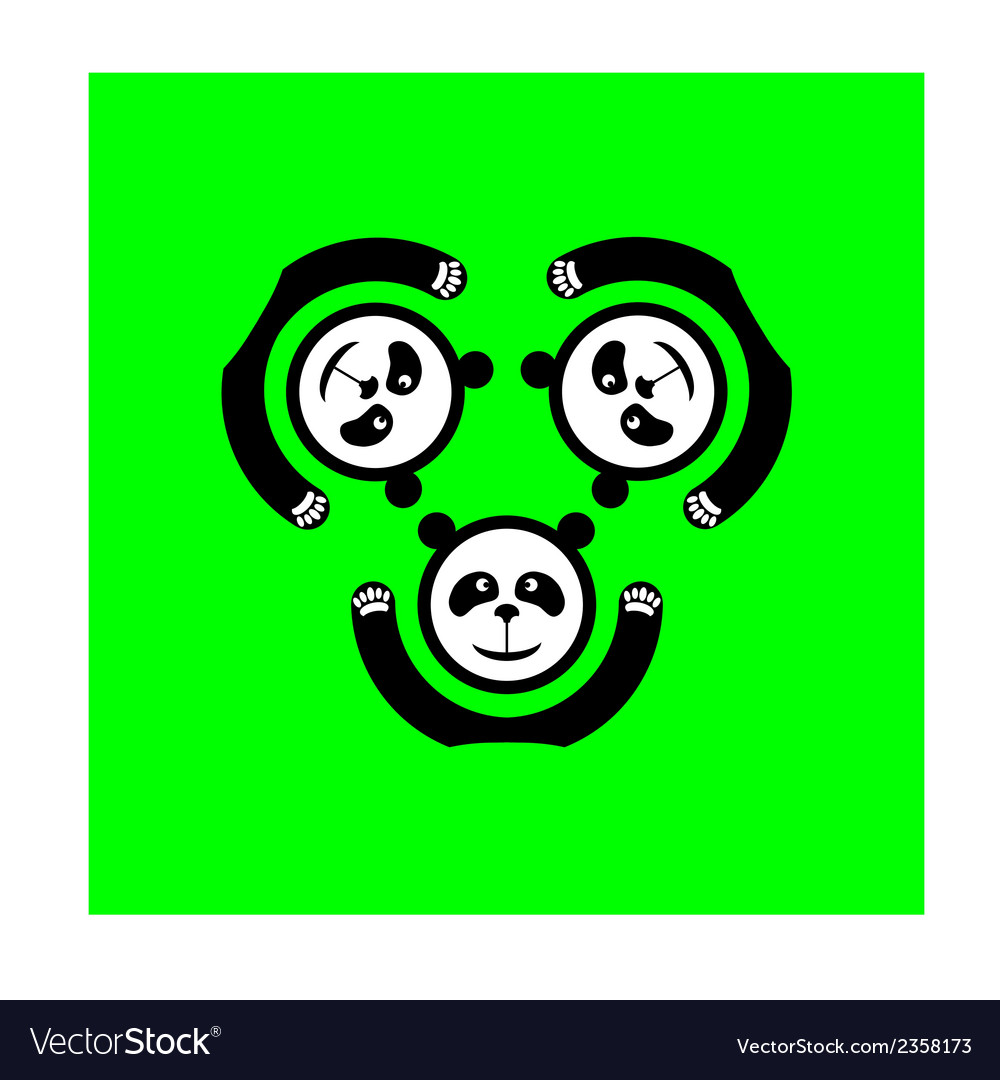 Panda logo vector | Price: 1 Credit (USD $1)