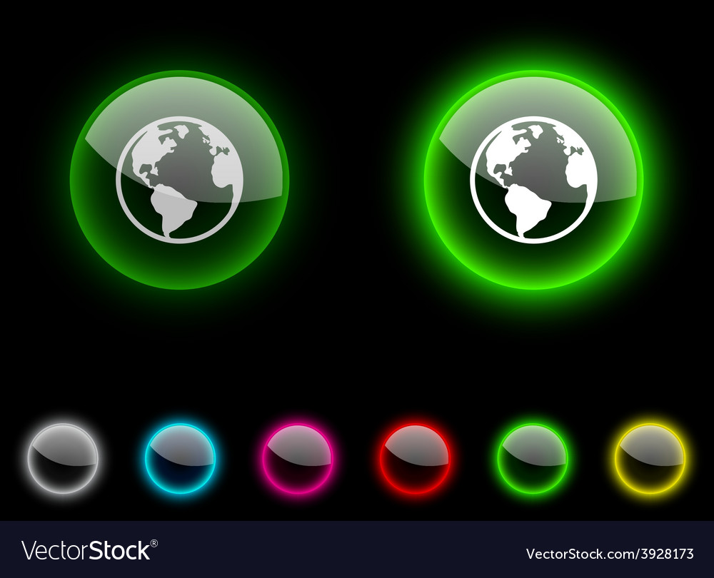 Planet button vector | Price: 1 Credit (USD $1)