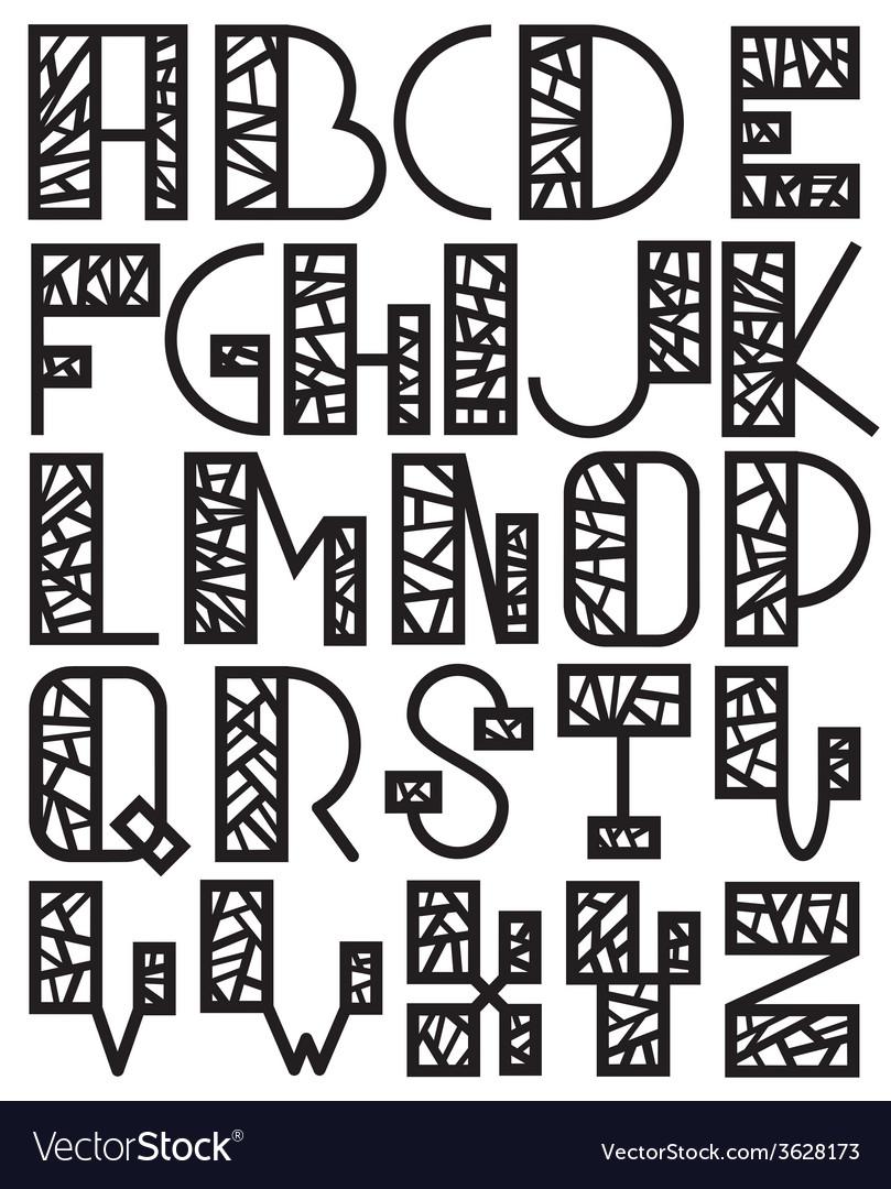 Set of mosaic alphabet vector | Price: 1 Credit (USD $1)