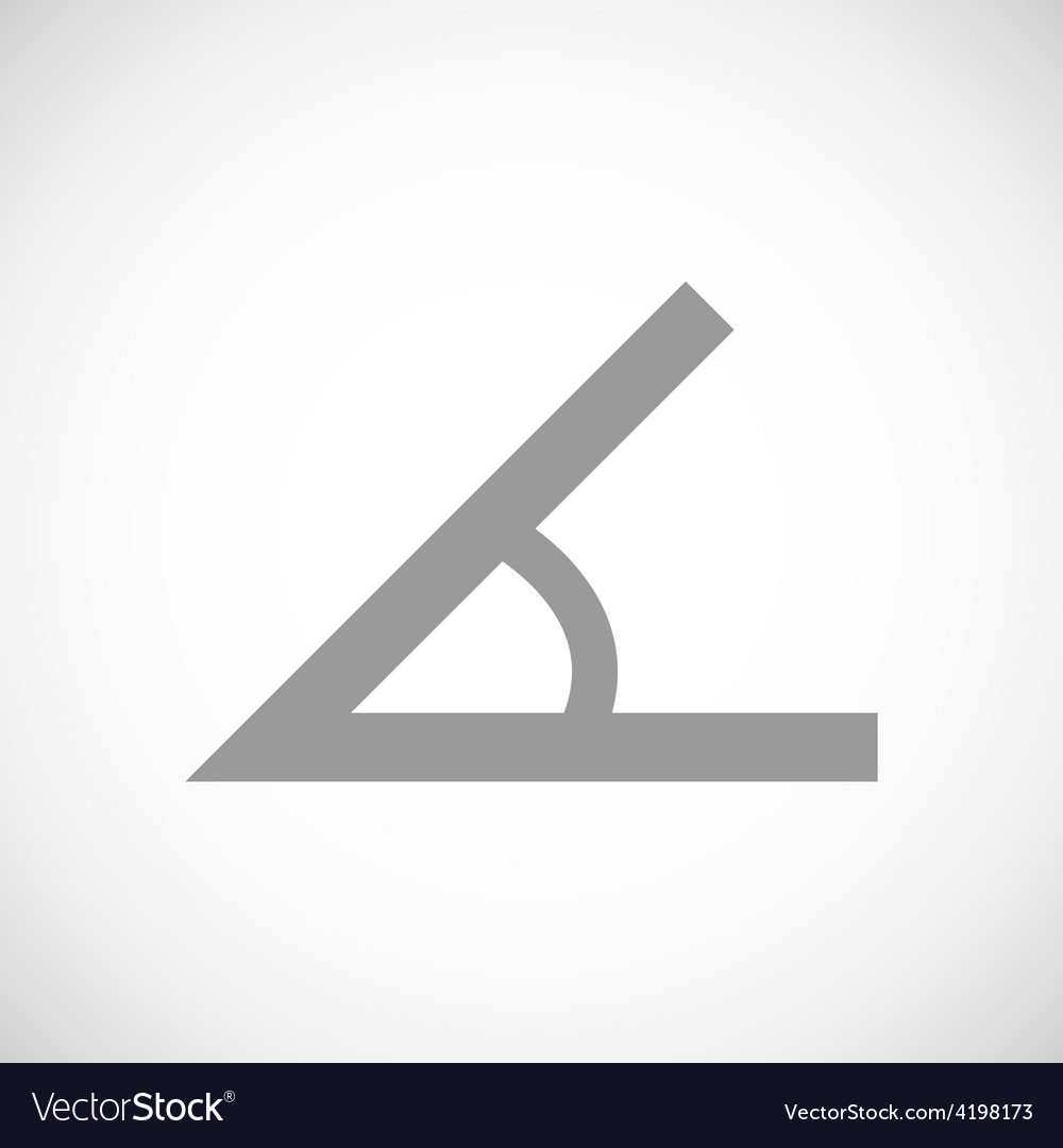 Sign of the angle black icon vector | Price: 1 Credit (USD $1)