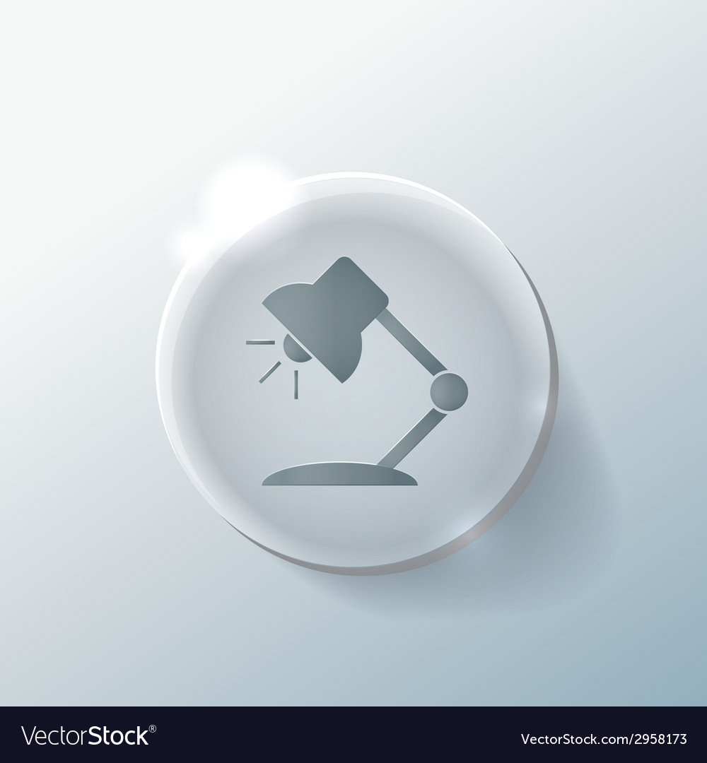 Table lamp symbol office or school vector | Price: 1 Credit (USD $1)