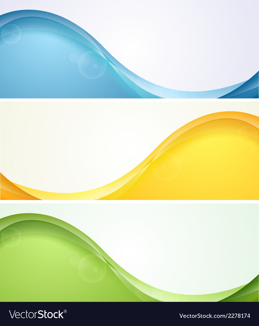 Colorful wavy banners vector | Price: 1 Credit (USD $1)