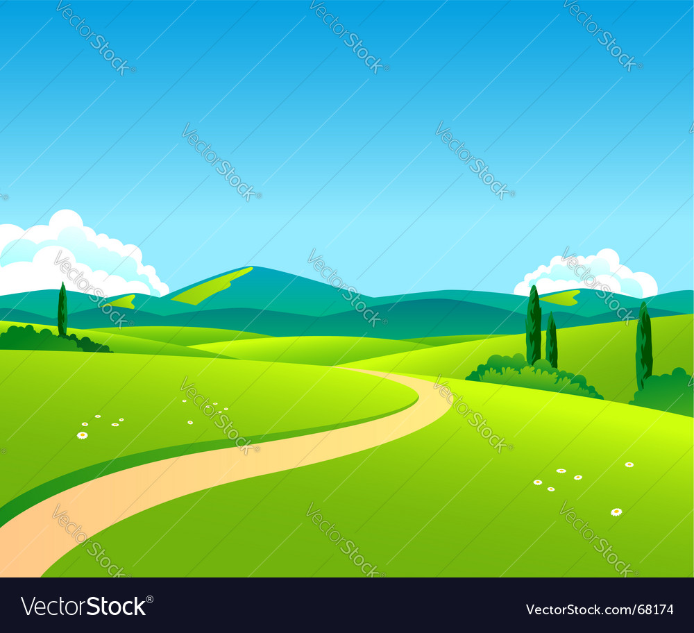 Countryside day vector | Price: 1 Credit (USD $1)