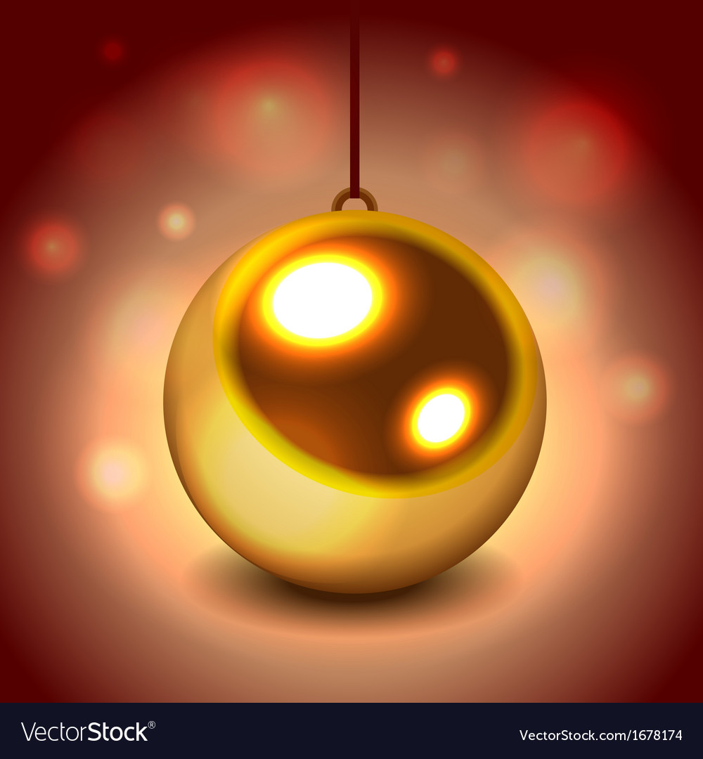 Glitter christmas ball vector | Price: 1 Credit (USD $1)