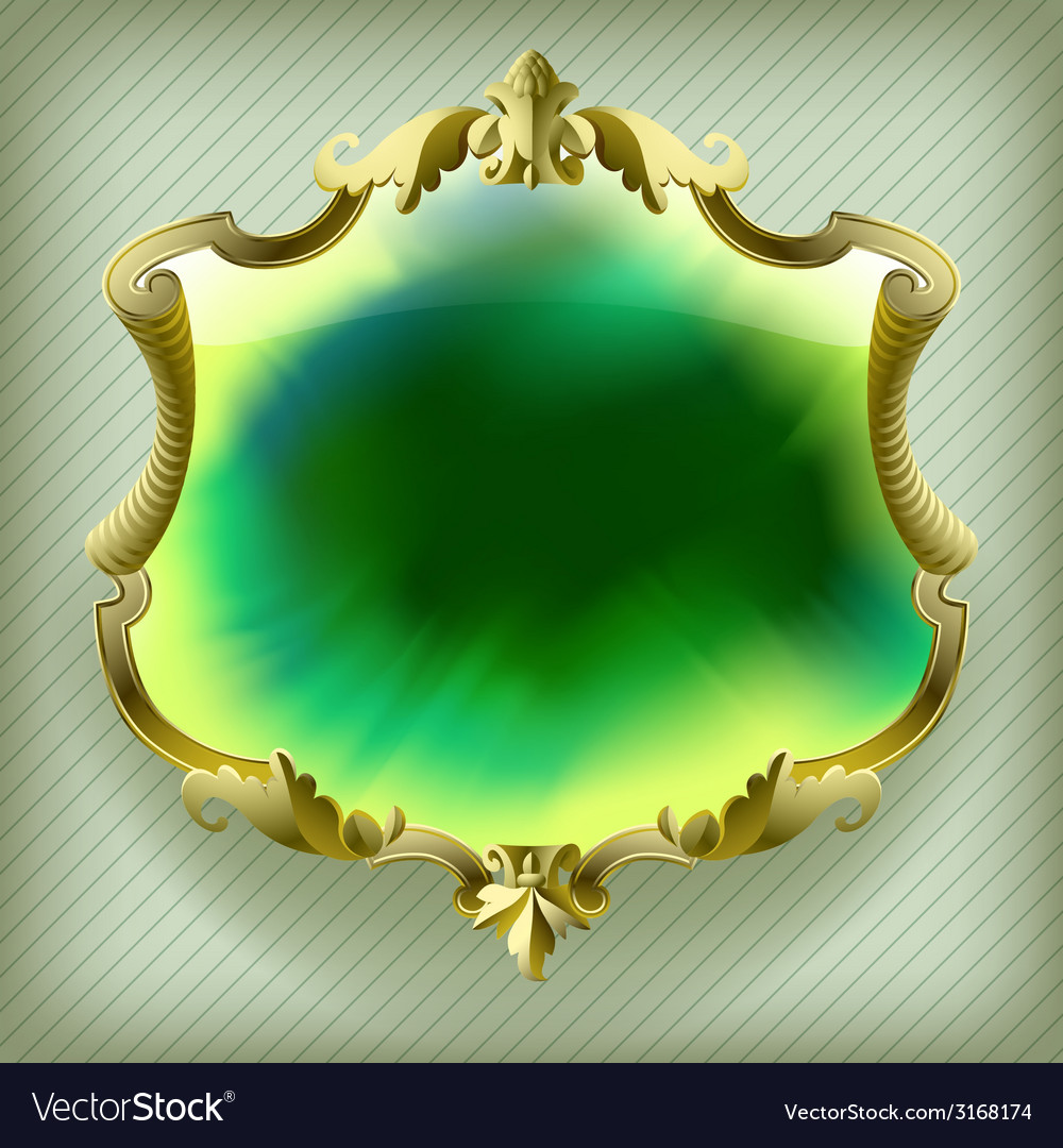 Gold baroque frame vector | Price: 1 Credit (USD $1)