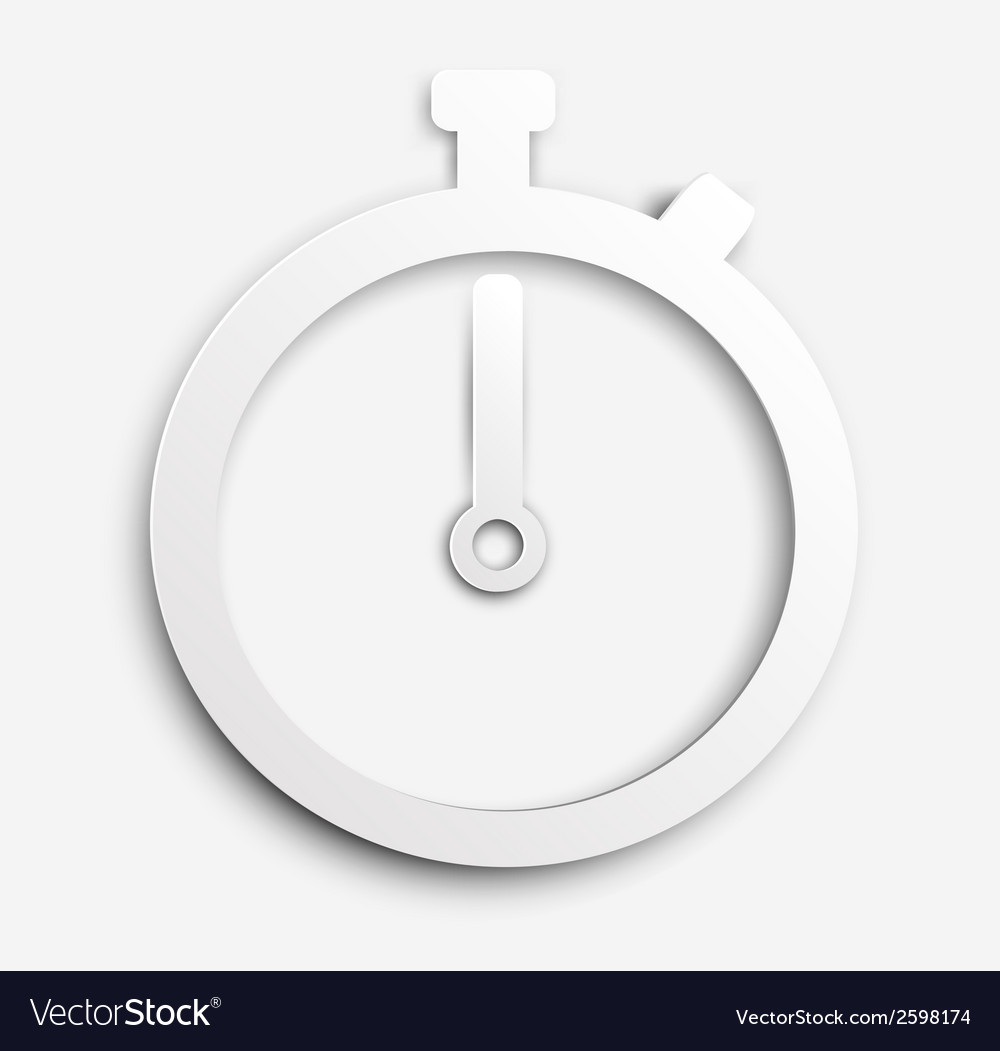Paper stopwatch vector | Price: 1 Credit (USD $1)