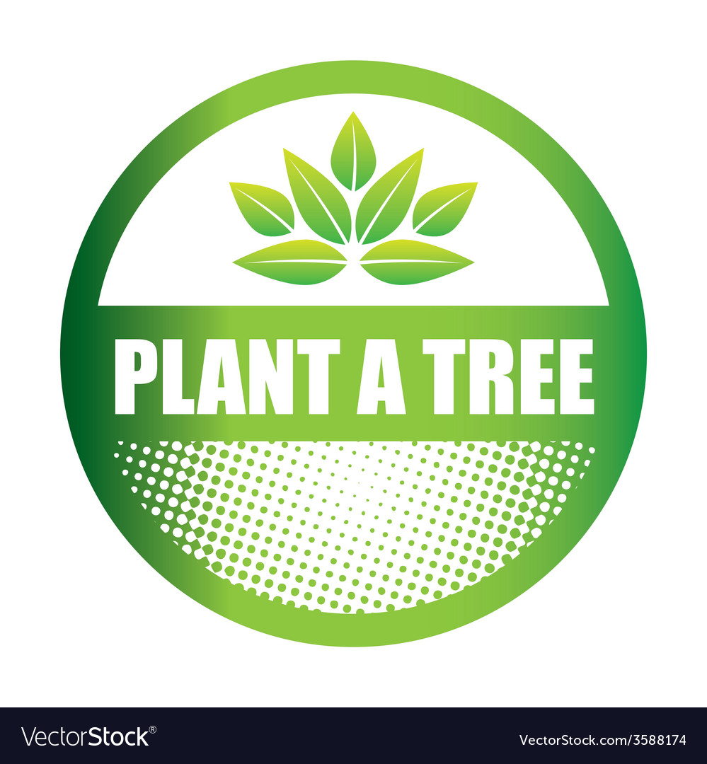 Plant a tree vector | Price: 1 Credit (USD $1)