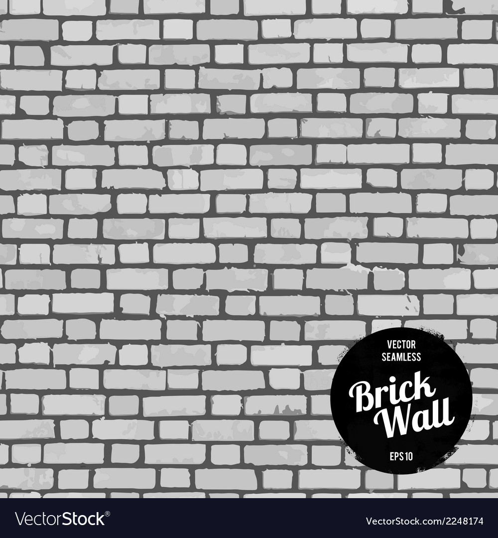 Seamless brick wall black vector | Price: 1 Credit (USD $1)