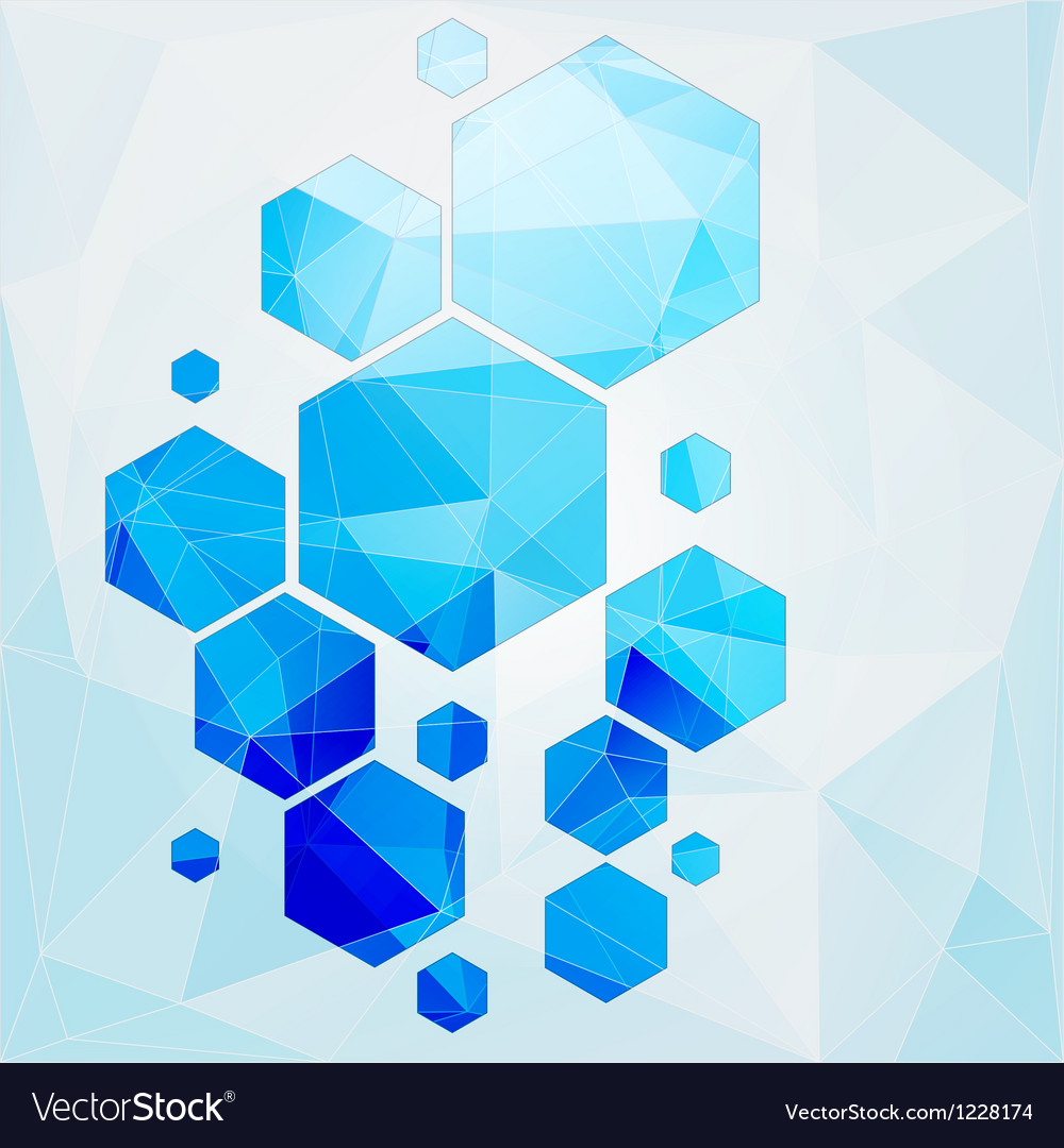 Technology polygonal cell abstract background vector | Price: 1 Credit (USD $1)