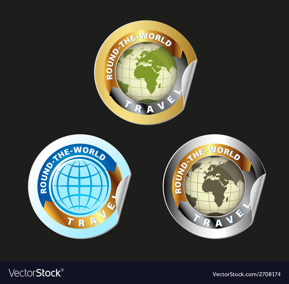 Travel round the world set vector | Price: 1 Credit (USD $1)