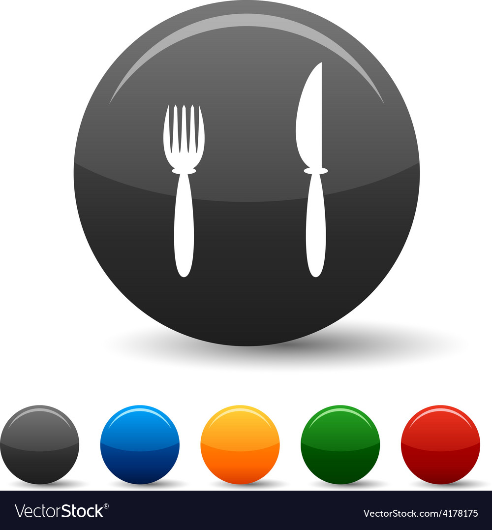 Dinner icons vector | Price: 1 Credit (USD $1)