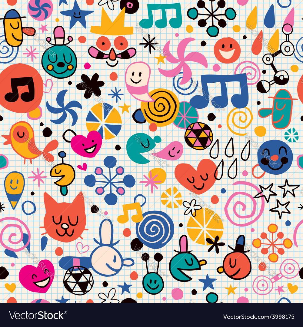 Fun cartoon pattern 3 vector | Price: 1 Credit (USD $1)