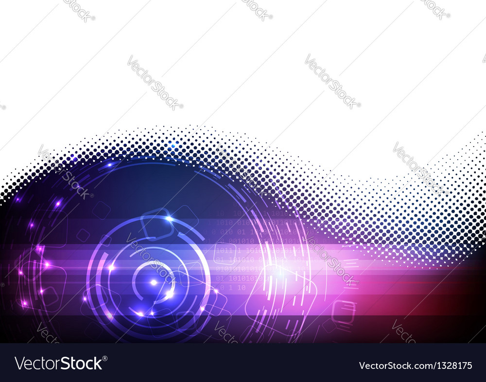 Futuristic digital blue and purple background vector | Price: 1 Credit (USD $1)