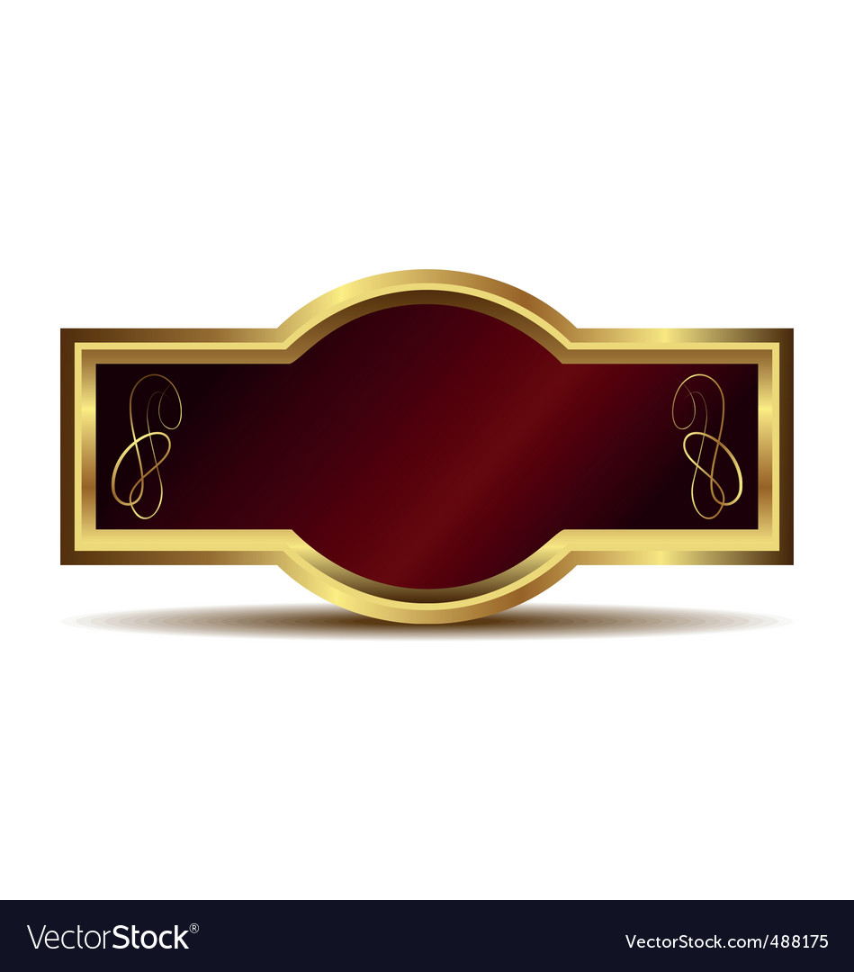 Gold frame label vector | Price: 1 Credit (USD $1)