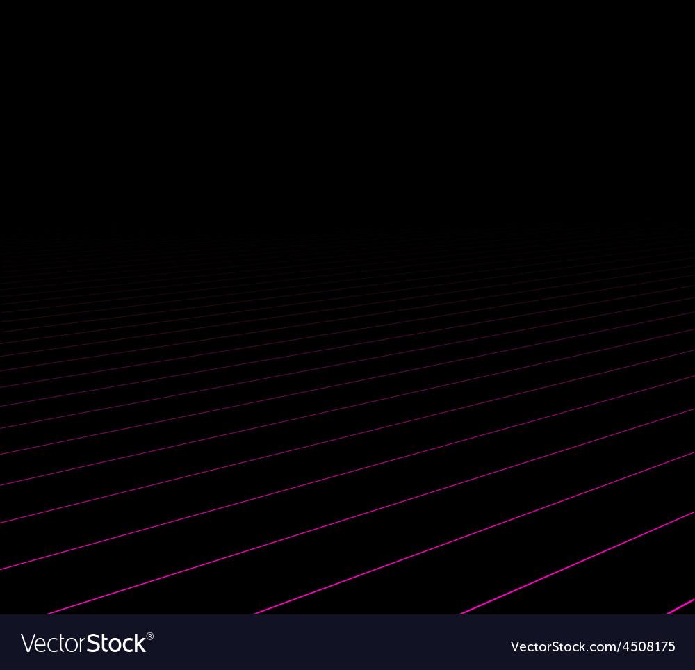 Lines perspective dark background vector | Price: 1 Credit (USD $1)